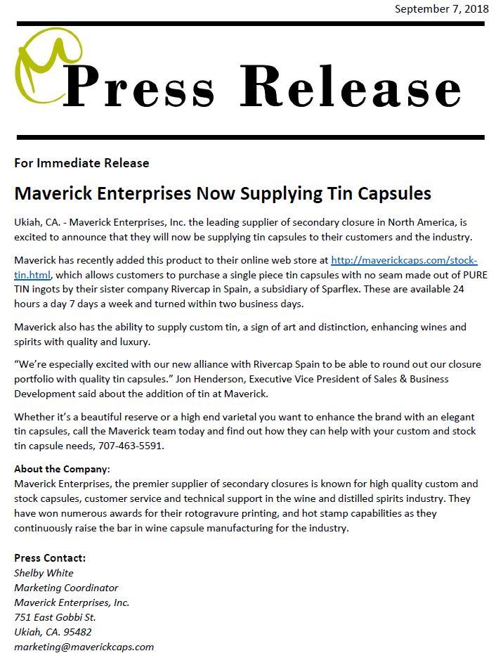 News - Maverick Enterprises, Inc